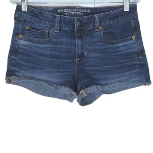 American Eagle Shortie Jean Shorts Size 10